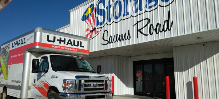 Saums Road Self Storage and UHaul Trucks